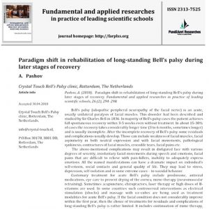 Scientific Article about facial and Bell's palsy